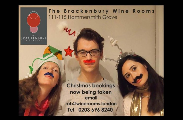 THE BRACKENBURY WINE ROOMS: For Christmas bookings call Rob on +442036968240