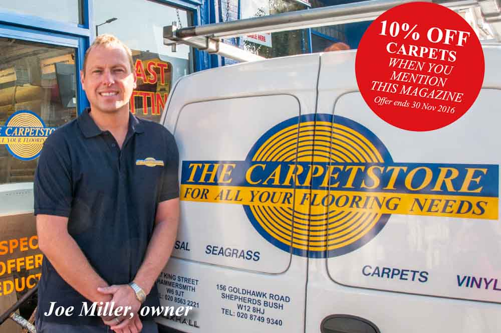 The Carpetstore: 10% off carpets when you mention Hammersmith Locals - Offer ends November 30