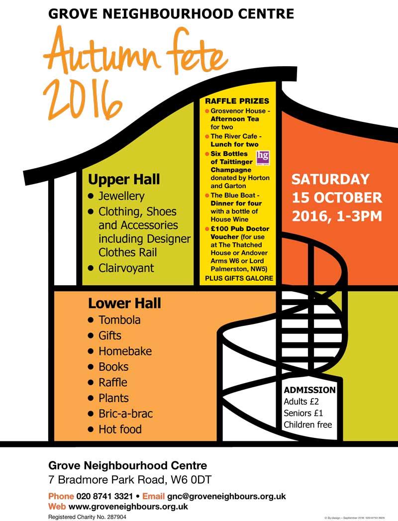 Grove Neighbourhood Centre Autumn fete 2016